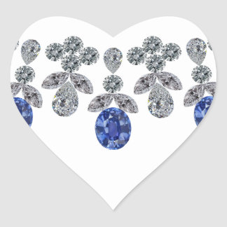 Socialite Sapphire Stunner Heart Sticker