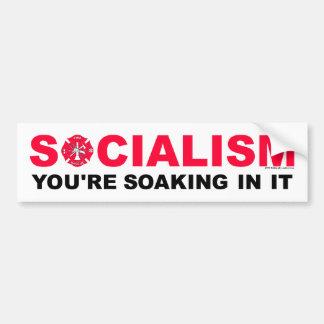 Socialized Firefighting Soaking Bumper Sticker
