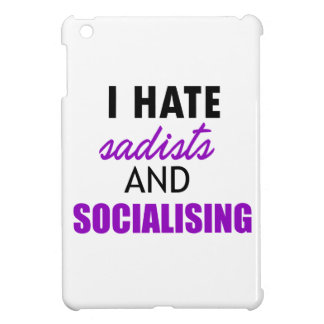socializing design iPad mini case