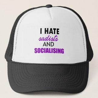 socializing design trucker hat