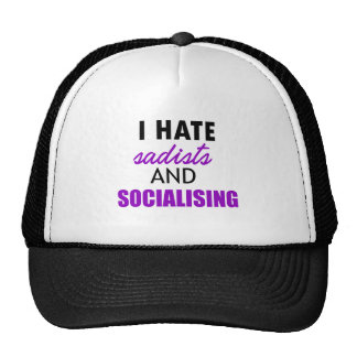 socializing design trucker hat