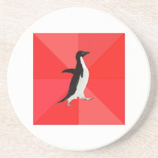 Socially Awesome Penguin Advice Animal Meme Drink Coaster