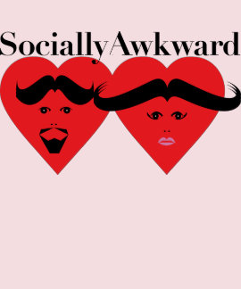 Socially Awkward Ladies Top Tshirts