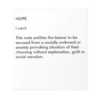Socially Awkward Notepad