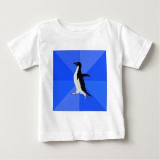Socially Awkward Penguin Advice Animal Meme Baby T-Shirt