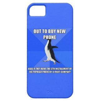 Socially Awkward Penguin buys new phone iPhone SE/5/5s Case