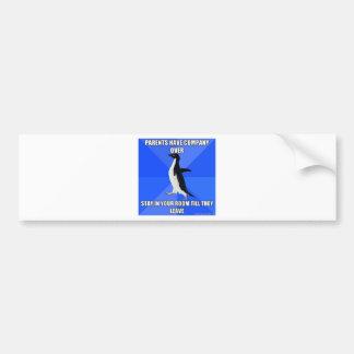 socially awkward penguin car bumper sticker