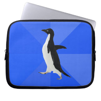 "Socially Awkward Penguin (""Customize"" to add text) Computer Sleeve"
