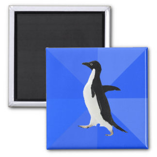"""Socially Awkward Penguin (""""Customize"""" to add text) Magnet"""