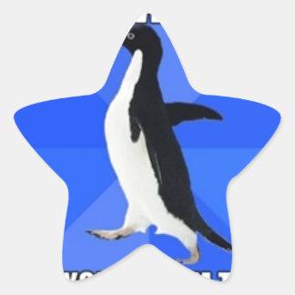 socially awkward penguin star sticker