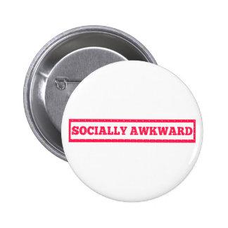 Socially Awkward Stamp 2 Inch Round Button