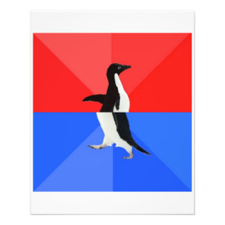 Socially Confused Penguin Advice Animal Meme Flyer