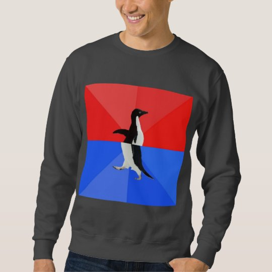 Socially Confused Penguin Advice Animal Meme Sweatshirt