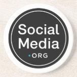 SocialMedia.org Drink Coasters