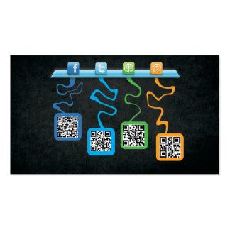 Socialmedia QR negocio Card Tarjetas De Visita