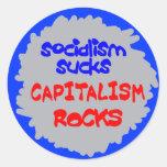 Socialsim chupa a los pegatinas etiqueta redonda