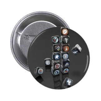 SOCIALUTION - Social Media Overload 2 Inch Round Button