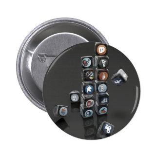 SOCIALUTION - Social Media Overload Pinback Buttons