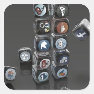 SOCIALUTION - Social Media Overload Square Sticker