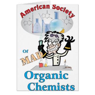 Sociedad americana de químicos orgánicos enojados tarjetón