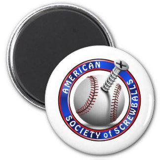 Sociedad americana de Screwballs Imán Redondo 5 Cm