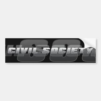 Sociedad civil pegatina para auto