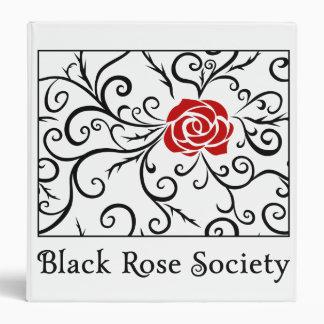 Sociedad color de rosa negra de las carpetas el |