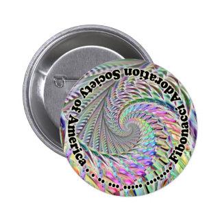 Sociedad de la adoración de Fibonacci de América Pin Redondo 5 Cm