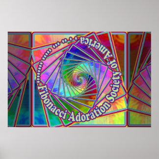 Sociedad de la adoración de Fibonacci del poster d Póster