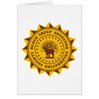 Sociedad de la celebración del antepasado de las o tarjeta de felicitación