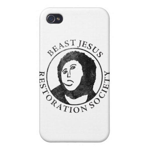 Sociedad de la restauración de Jesús de la bestia iPhone 4/4S Carcasas