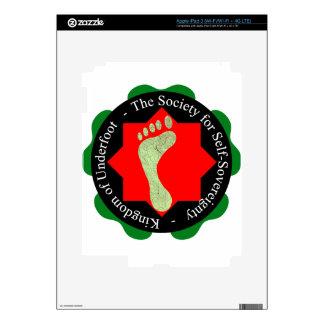 Sociedad de la Uno mismo-Soberanía Pegatinas Skins Para iPad 3
