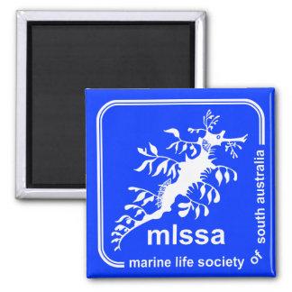 Sociedad de la vida marina del imán del logotipo d
