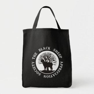 Sociedad del aprecio de las ovejas negras bolsa tela para la compra