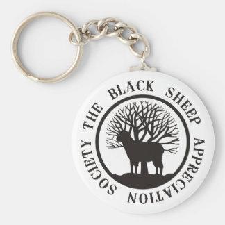 Sociedad del aprecio de las ovejas negras llavero