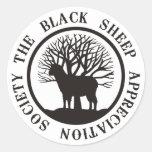 Sociedad del aprecio de las ovejas negras etiquetas