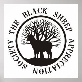 Sociedad del aprecio de las ovejas negras posters