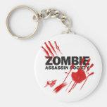 Sociedad del asesino del zombi llaveros personalizados