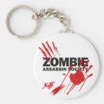 Sociedad del asesino del zombi llaveros