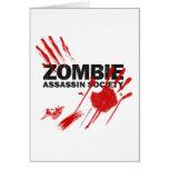Sociedad del asesino del zombi tarjeta