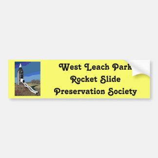 Sociedad del oeste de la preservación de la diapos pegatina para auto