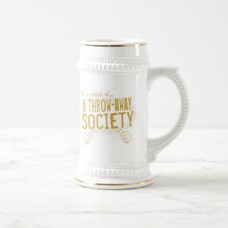 sociedad desechable jarra de cerveza