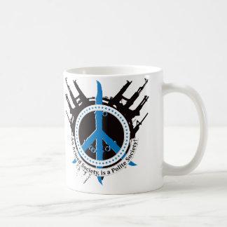 Sociedad educada armada - azul taza de café