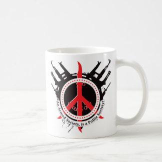 Sociedad educada armada - rojo taza de café
