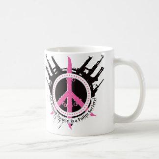 Sociedad educada armada - rosa taza de café