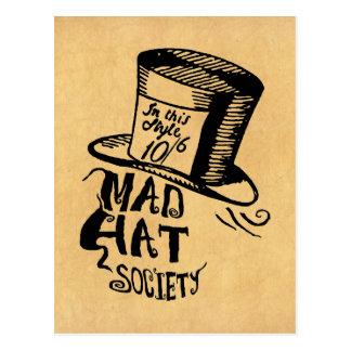 Sociedad enojada del gorra postal