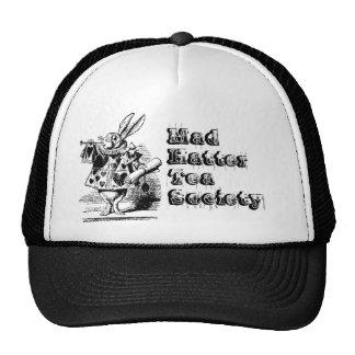 Sociedad enojada del té del sombrerero gorras