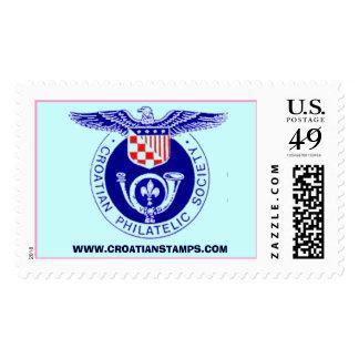 Sociedad filatélica croata,           WWW.CR… Timbre Postal