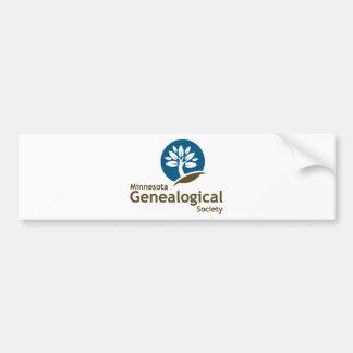 Sociedad genealógica de Minnesota Pegatina De Parachoque