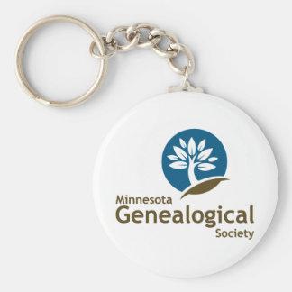 Sociedad genealógica de Minnesota Llavero Redondo Tipo Pin